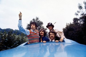 "a still from ""Magical Mystery Tour."" we had this poster in our house for many years. of course, now it's long gone."